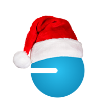 Santa Hat blue guy